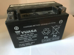 Motorcycle battery, like new.