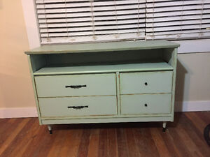 Shabby chic/refurbished flat screen tv console