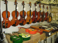 Great selection of electric and accoustic guitars.