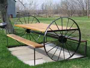 ******PICNIC TABLES BENCHES WAGON WHEELS & MUCH MORE ******