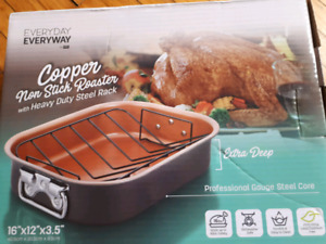 Everyday Everyway Copper Non - Stick Roaster