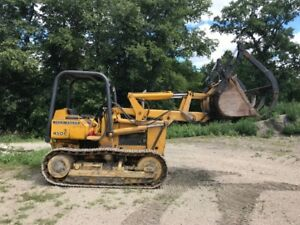 John Deere 450C Crawler Loader With Grapple