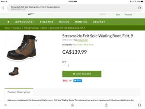 Brand new Streamside Adventurer wading boots