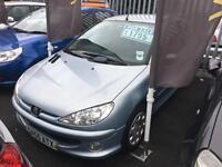 Peugeot 206 1.1 8v 2005MY Zest 3 Blue Low Insurance Petrol MOT