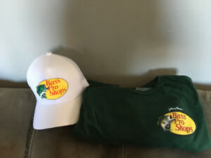 Bass pro shop hat and t shirt