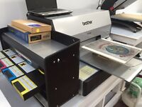 Brother printer dtg gt-541 direct to garment tshirt printing screen