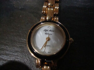 Woman's Fifth Avenue Collection Gold Dress Watch