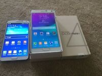 Samsung galaxy note4,& note3,Unlocked,BUY or Trade,
