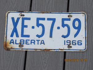 Alberta License Plate - 1966
