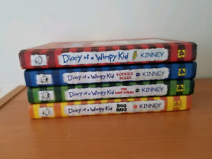 4 first diary of a wimpy kid books