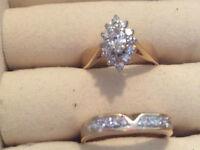 Wedding Ring and Diamond Band