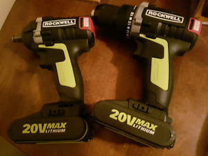 rockwell 20v brushless hand drill and impact driver