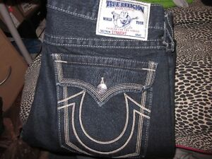AUTHENTIC MENS TRUE RELIGION DENIM JEANS SIZE 34