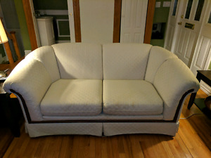 White Skyler Peppler Love Seat