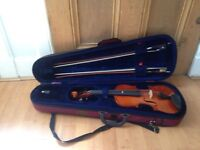 Viola with case and bows