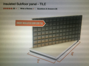 Amdry Insulated Subfloor Panels. 2x4 Panels, 50 total, 400 sq.ft