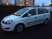 Vauxhall zafira diesel 2012 7 seater mpv