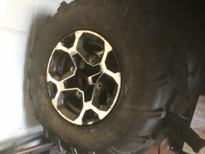 Quad rims and tires off 2012 can am