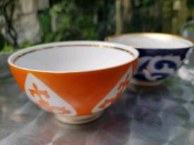 Unique vintage Soviet Kazakhstan traditional tea cups