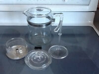 VINTAGE PYREX GLASS STOVE TOP COFFEE PERCOLATOR