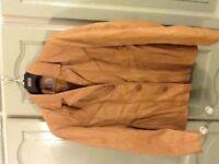 Caramel Size 16 Learher Jacket