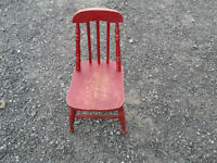 Little Red Rustic Antique Chair