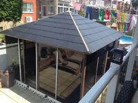 Gazedo 12x14 feet aluminum/polymer tinted metal roof used