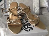 Next gold strappy sandals