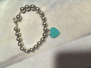 Beautiful Tiffany and co sterling silver beaded bracelet
