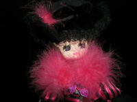 Handcrafted Doll with Ostridge Feather Boa