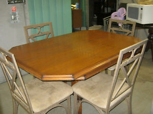 Dining table and 4 chairs $150.00 OBO