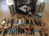 WWE WWF Wrestling Elimination Chamber Bundle & Figures