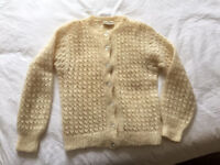 Beautiful mohair hand knitted cardigan