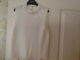 Girls white river island top