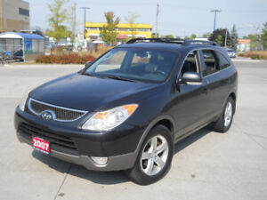 2007 Hyundai Veracruz, AWD,Leather, 7 Pass,Low k warranty availl