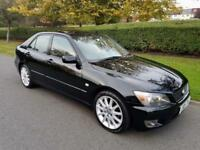 LEXUS IS 200 (2.0) SE - 4 DOOR - AUTOMATIC - 2004 - BLACK ** SAT NAV **