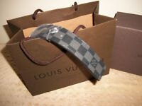 Brand New Louis Vuitton Damier Black On Black Belt