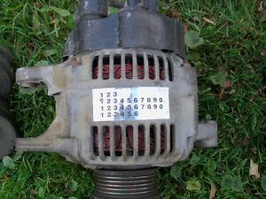 Dodge caravan 2000 3.3 alternateur,pompe power stering,binder