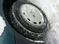 13 in snow tires on rims used 1/2 season