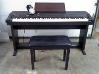 Roland 3000 Series Electric Piano w Bench and Sansui Headphones