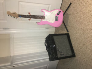 Fender Squire mini And Fender Mustang Amp