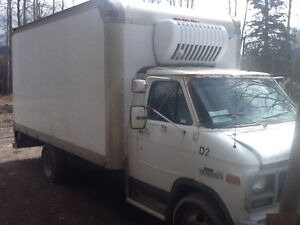 Open to offers on 1996 GMC Sierra 3500 reefer equipped cube van