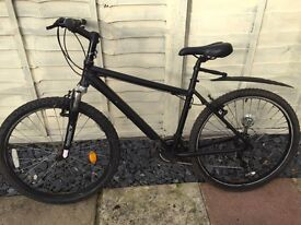 All black mountain bike