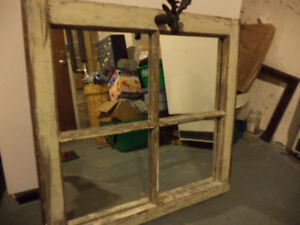 Cool vintage window framed mirror