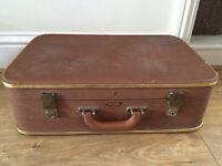 Vintage retro style suitcase