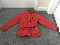 Girls red Barbour jacket age 6/7