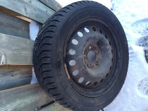 4 Winter tires- GREAT SHAPE! 215/55R16 winter tires and rims Cambridge Kitchener Area image 2