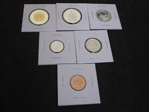 2001 Canada Sterling Silver PROOF 6 Coin Set