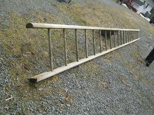 21 Foot Wooden Barn Ladder