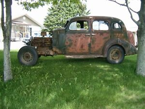 1936 BUICK RAT ROD STOCK 95% COMPLETE MOTOR TURNS